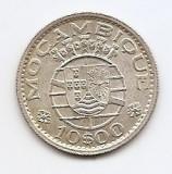 Mozambic 10 Escudos 1954 - Argint 5 g/720,  24 mm KM-79, Africa