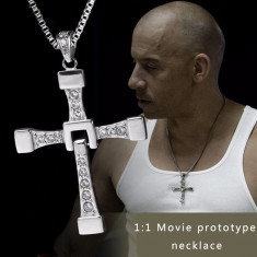 Lantisor VIN DIESEL pandantiv cruce + lant Fast and Furious DOMINIC TORETTO