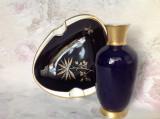 Cumpara ieftin Scrumiera + vaza din portelan fin bavarez, cobalt si aur