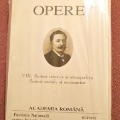 Opere VIII. Scrieri istorice si etnografice. Academia Romana - Ioan Slavici, Alta editura, 2007