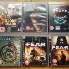 6 jocuri PS3 Survival Horror : FEAR , DEAD SPACE , CONDEMNED , ALONE IN THE DARK