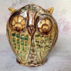 Figurina / bibelou vintage din ceramica rosie glazurata, designer