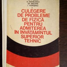 Culegere de probleme de fizica pentru admiterea in invatamantul superior tehnic - Tr.I. Cretu