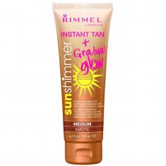 Lotiune Autobronzanta Rimmel Sun Shimmer Instant Tan Gradual Glow Medium Matte 125 ml
