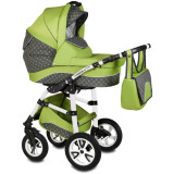 Carucior Flamingo Easy Drive 3 in 1 - Vessanti - Green
