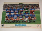 Poster-echipa de fotbal - SAMPDORIA (Italia) sezonul 1988/1989