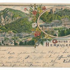2890 - Baile HERCULANE, Litho, Romania - old postcard - used - 1900, Circulata, Printata