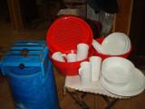 Set Camping (Aragaz 1 ochi+Vesela plastic 6 pers)-70 lei