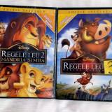 SET 'REGELE LEU 2 +3' [1998+2004] (DISNEY ORIGINALE, SIGILATE, ROMÂNĂ), DVD, Romana