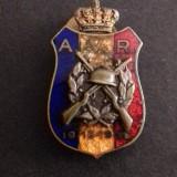 Insigna regalista - Asociatia Voluntarilor de Razboi 1916-1919