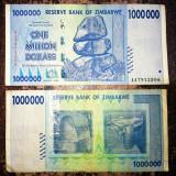 ZIMBABWE 1 000 000 1.000.000 dollars dolari 2008 CIRCULATA stare foarte buna