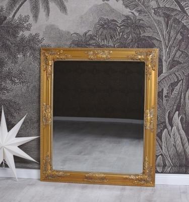 Oglinda cu o rama aurie SNA016 foto