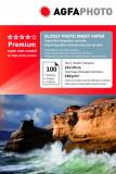 HARTIE FOTO AGFA GLOSSY INKJET 10X15 240G/100COLI