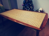 Set masa din lemn masiv și zambila și 7 scaune