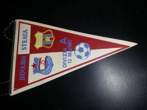 FANION Vechi DINAMO-STEAUA Divizia A,13 Mai 1987,Echipa de fotbal Dinamo,T.GRATU