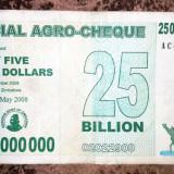 ZIMBABWE 25 000 000 000 25.000.000.000 dollars dolari 2008 (Agro Cheque)