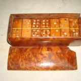 Joc domino din lemn deosebit cu insertii de scoica-20 lei