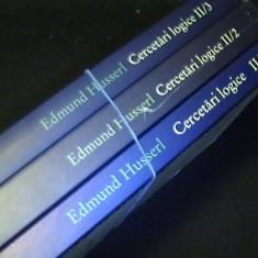 CERCETARI LOGICE--II- PARTEAI-A/1+2-PARTEA-II-A/3,4,5-PARTEA-III-A/6-E.HUSSERL-, Humanitas