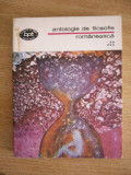 RWX SF - BPT 1308 - ANTOLOGIE DE FILOSOFIE ROMANEASCA - VOLUMUL V - 1988