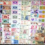 Colectie 100 bancnote STRĂINE DIFERITE circulate si NECIRCULATE din 38 tari