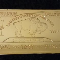 Lingou TITAN .999 acoperit cu aur 24 k
