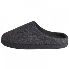 Papuci de casa barbati, din textil, s.Oliver, 5-17302-21-87-15, negru cu gri, 44