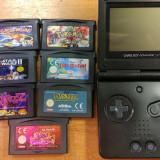 Consola Game Boy Advance SP + 7 jocuri