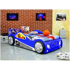 Patut in forma de masina Monza - Plastiko - Albastru