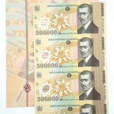 Coala aniversara BNR 500.000 lei 500000 lei +certificat autenticitate TIRAJ 1000