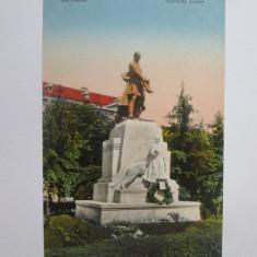 Oradea Mare-Statuia lui Szacsvay Imre,carte postala necirculata cca 1917, Printata