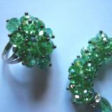 SET Bratara+Inel fashion de colectie cristale tip Swarovski + saculet
