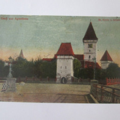 Agnita/Sibiu,carte postala circulata 1924