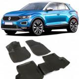 Set Covorase cauciuc tipTavita VW T-ROC 2017-2019 cu sistem de prindere in podea