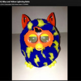 Furby Boom 2013 Blue and Yellow Lightning Bolts, Vital Baby
