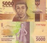INDONEZIA 5.000 rupiah 2016 UNC!!!