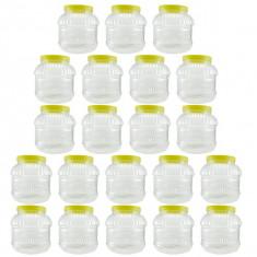 21 x Borcan 2L din plastic cu capac, 21 x 2L