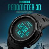 Ceas Military SKMEI  cronograf, data, pedometru, waterproof 50M inot