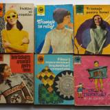 6 Carti Fileuri Macrameuri Impletituri Crosetate Tricotaje caleidoscop + Bonus