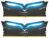 Memorie Team Group Nighthawk, DDR4, 2x8GB, 3200MHz, Iluminare LED Albastru