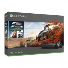 Consola Microsoft Xbox One X 1TB cu Forza Horizon 4 si Forza Motorsport 7
