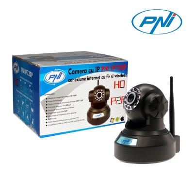 Resigilat : Camera cu IP PNI IP720P cu fir si wireless are capacitate de rotire si foto