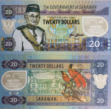 F RARR : SARAWAK , MALAEZIA = FANTASY NOTE = 20 DOLARI 2017, VAR B - UNC/POLIMER