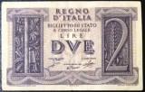 SV * Italia  2  DVE  LIRE  (1938-) 1944     WWII     VF+