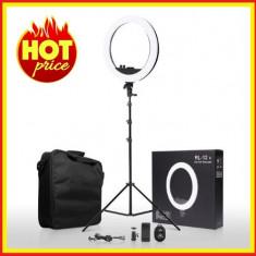 Lampa Circulara LED cu Trepied cu lumina calda/ rece RL-18,Geanta suport telefon