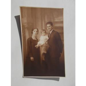 FOTOGRAFIE VECHE  de familie din perioada interbelica ,  atelier E. POPP