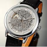 Ceas Automatic Skeleton Winner - Mecanic Silver - Curea Neagra, Mecanic-Manual