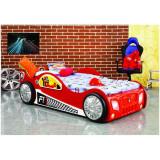 Patut in forma de masina Monza - Plastiko - Rosu