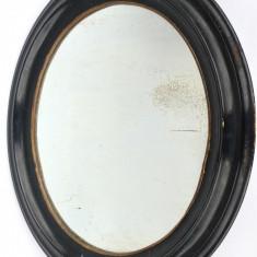 Oglinda Neagra Ovala Veche Biedermeier - circa 1850 - 1860