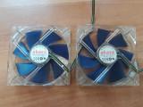 2 x Cooler,ventilator Carcasa Akasa 120x120x25 4 fire PWM., Pentru carcase