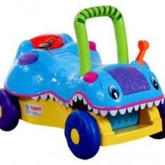 Masinuta antemergator Arti pentru copii Crocodil Albastru